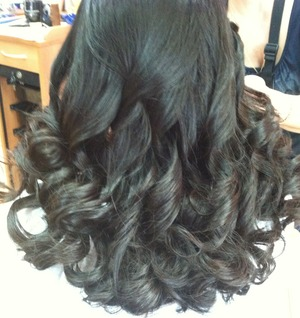 I curled my hair for graduation and it turned out so pretty. I got it done at a salon because I take a long time to curl my hair! lol