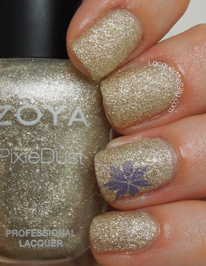 Zoya Tomoko with stamped accent nail. More information can be found on my blog post: http://www.lacquermesilly.com/2013/09/09/zoya-tomoko/