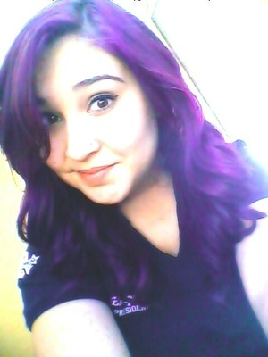 my purple hair :)