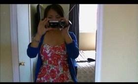 OOTD Spring flirty dress plus mini VLOG
