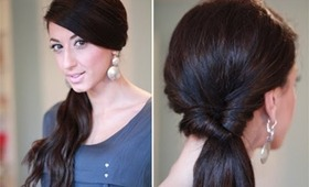 Simple Looped Side Ponytail