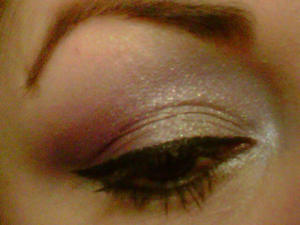 Lime Crime Candy Eyed primer -{I used ELF eye shadows in light purple orchids from the Beauty Eye Manual --I also used an opal shimmer loose powder for the brow bone and Sugarpill's -Tiara for the inner to mid of my eyes