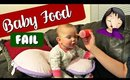 FIRST TIME BABY FOOD FAIL | Vlogmas Day 5