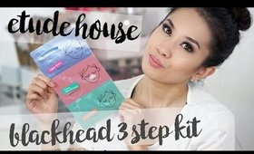 Etude House Blackhead 3 Step Kit | Demo, Review, & Giveaway !