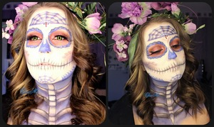 I've recreate the Sugar Skull from Beautybydehsonae from Instagram