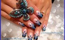Blue French Abstract Nail Art Design Tutorial - ♥ MyDesigns4You ♥