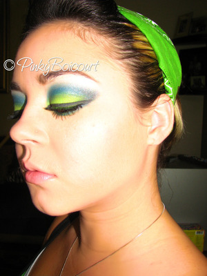 Seattle Seahawks Inspired tutorial