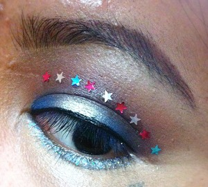 Fun glittery look
