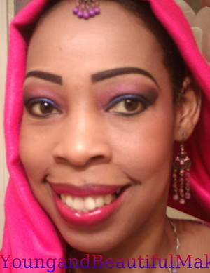 My take on Indian bridal Makeup...using L.A. Colors eyeshadows.