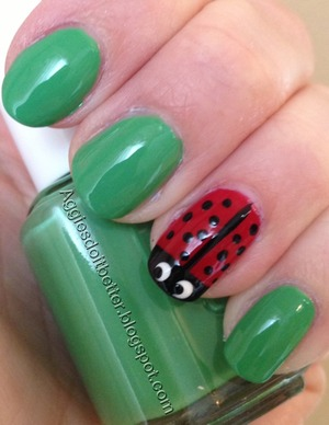 Essie mojito madness with lady bug accent :)