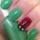 lady bug springtime nails!