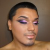 Pink and Purple Cut-Crease