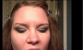 Blue Smokey Eyes and Nude Lips