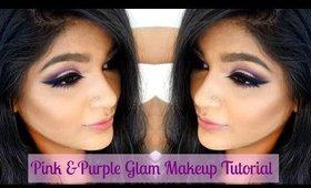Pink & Purple Glam Makeup Tutorial|| TansiaA ❤