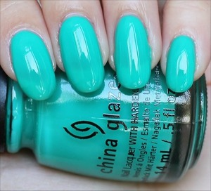 From the Sunsational Collection. Click here to see my in-depth review and more swatches: http://www.swatchandlearn.com/china-glaze-keepin-it-teal-swatches-review/
