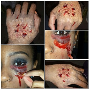 My first attempt at a bloody special effects look.