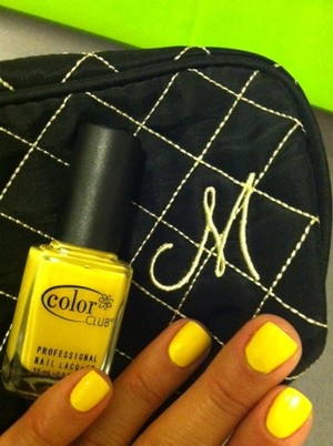 """Finally found a yellow nail polish I'm in love with. Color Club polish in """"Almost Famous""""."""