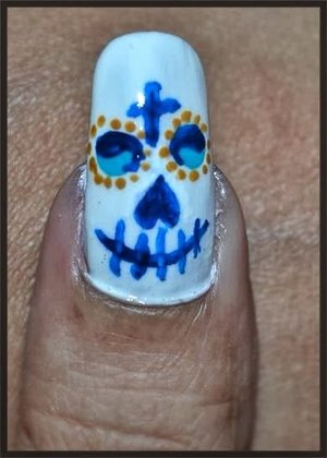 See the Tutorial @ https://www.youtube.com/watch?v=OzW-MufP3CE For more pics Visit http://www.gorgeousnailschannel.com/2013/10/halloween-nail-art-la-bella-muerte.html  Follow me on :-  YouTube : https://www.youtube.com/user/SuperGorgeousnails  Blog : http://www.gorgeousnailschannel.com  Facebook : https://www.facebook.com/SuperGorgeousNails  Twitter : https://twitter.com/DemiNails123  Pinterest: http://www.pinterest.com/deminails123/
