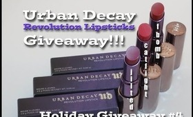 Urban Decay Revolution Lipsticks Giveaway!!! 3 Brights [Holiday Giveaway #4]