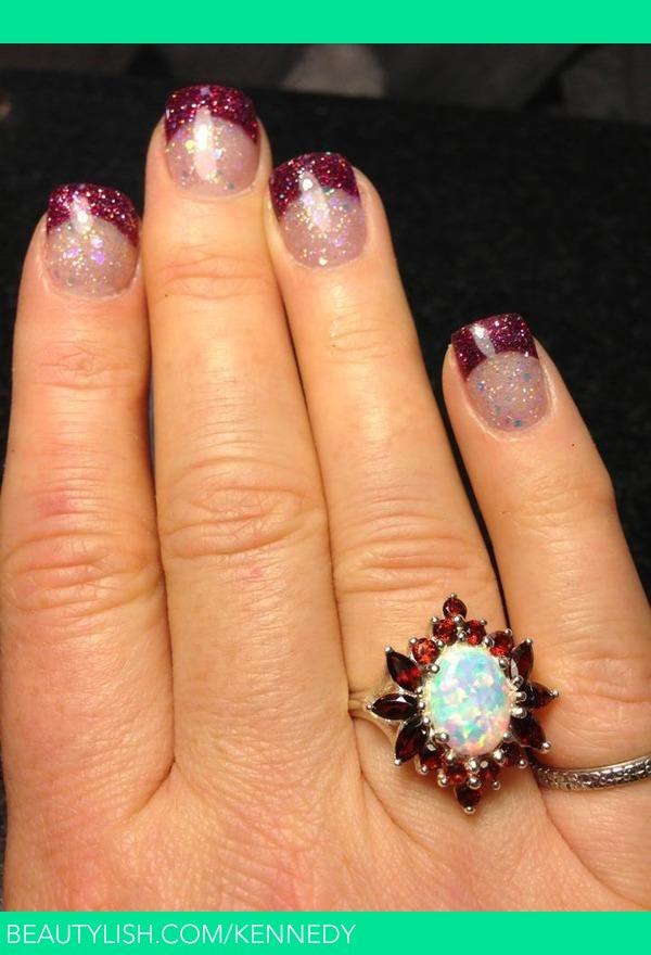 Glitter acrylic nails. | Stephanie K.\'s (kennedy) Photo | Beautylish