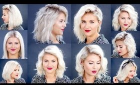 10 Easy Short HairStyles With Straightener | Milabu
