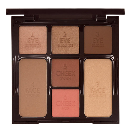 Charlotte Tilbury Instant Look in a Palette Beauty Glow product smear.