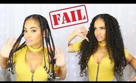 I Tried A Braid Out On My TRANSITIONING HAIR! | FAIL