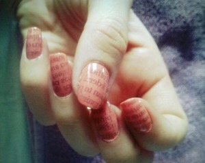 Newspaper nails.