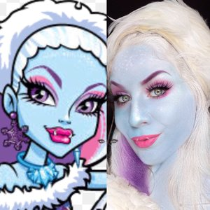 Ahhhh! I'm blue...OR am I, Abbey Bominable?! DOM DOM DOMMMMM. This is a test run to see how you guys like my adaption to the Monster High Ghouls. ENJOY XOXO! http://www.thaeyeballqueen.com/makeuplooks/abbey-bominable-monster-high/