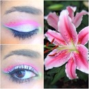 Makeup inspired by a flower !