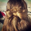 half up half down hair bow