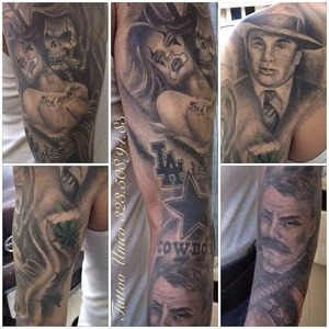 I'm a tattoo artist and I'm located in the city of Bell, CA. If you have any questions hit me up! 323.508.94.83 Instagram: @tattoounico, Facebook: Tattooss Unico