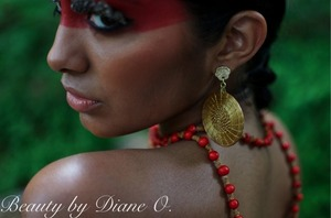 More of my work from the Amazonian themed makeup for Bohobrasil