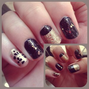 fun and edgy on long and short nails... love this combination