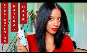 Curly to Straight | Straightening Natural Hair Tutorial 2019