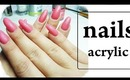 How to infill an acrylic nails