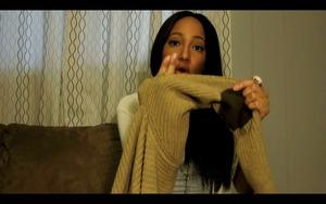 Tragic hole in my oh so cute sweater.  ~Angelica Dudenhoefer