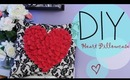 DIY Easy Pillowcase & Flower Heart {How to Make}