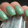 Layering: Deborah Lippmann Glitter In The Air over OPI Damone Roberts 1968