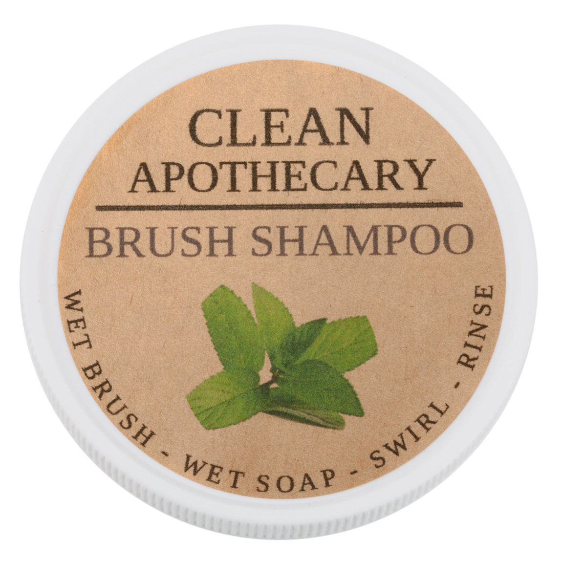 Clean Apothecary Brush Shampoo Spearmint product swatch.