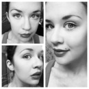 Lucille Ball inspired makeup. (Black and white)