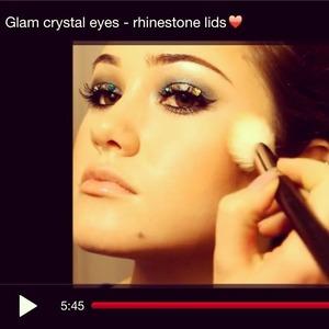 How I got my rhinestone eyes on YouTube! Username: Glamourxgirl14