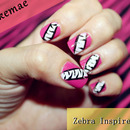 Zebra Inspired Nails