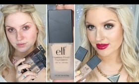 First Impression Review ♡ Elf Flawless Finish Foundation