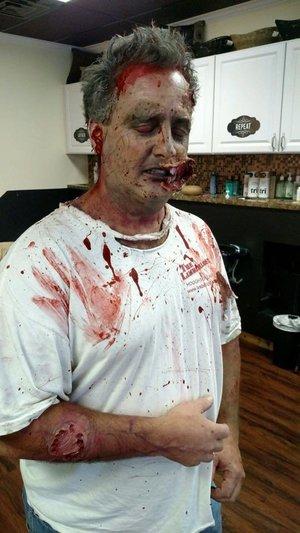 Zombie make up by Christy Farabaugh