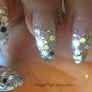 Silver hologram nails