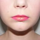 Pink, glittery lips
