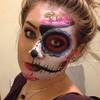 Half sugar skull make up