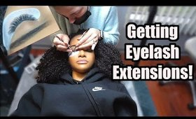 Getting Eyelash Extensions for the FIRST Time | Come With Me!