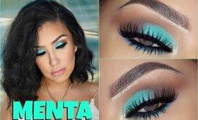Maquillaje MENTA  en los  ojos / MINT look | auroramakeup